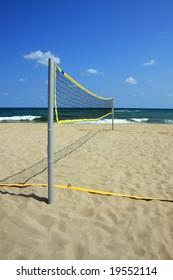 Area for beach volleyball. Summer. Black Sea, Bulgaria.