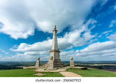 An Area Of Natural Beauty,the monument erected to remember the 148 men who died in the conflict in South Africa,here overlooking Aylesbury Vale,forty miles west of London.