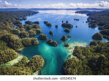 """An area of the Raja Ampat Islands known as """"The Passage"""" in West Papua, Indonesia"""