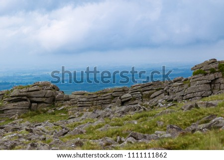 The area surrounding Belstone Tor in Dartmoor National Park, Devon, United Kingdom