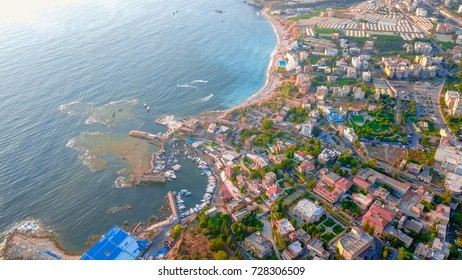 Areal photo of Byblos (Jbeil) City in Lebanon