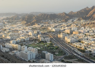Areal view of Wadi Kabir city, Muscat City, Oman