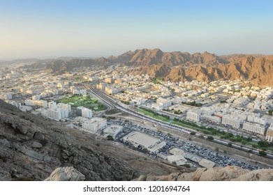 Areal view of Wadi Kabir city, Oman