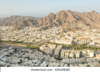 Areal View of Wadi kabir city. Oman