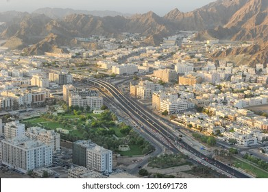 Areal view of Wadi Kabir, Muscat City, Oman