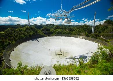 Arecibo, Puerto Rico. APRIL 2019: Arecibo Observatory. Puerto rico.