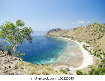 areia branca beach near dili in east timor, timor leste