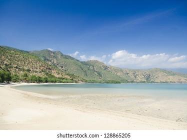 areia branca tropical beach near dili in east timor