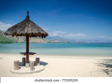 areia branca tropical beach view and coast near dili in east timor