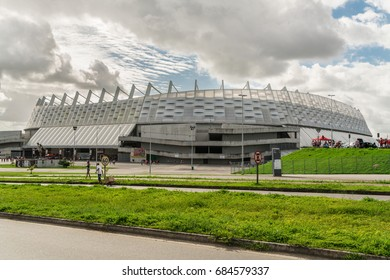 Arena de Pernambuco stadium / Pernambuco, Brazil - July 15, 2017 - Is a football stadium built in Pernambuco, for the games of the 2013 FIFA Confederations Cup and the 2014 FIFA World Cup in Brazil.