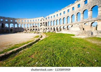 Arena name of amphitheatre  in Pula, Croatia.