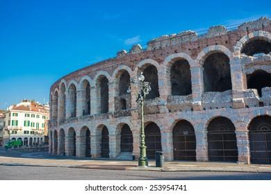 Arena of Verona, ancient roman amphitheater. Italy