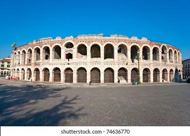 Arena of verona, ancient roman amphitheatre. italy