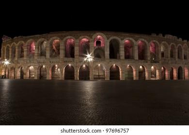 Arena of Verona, square Br�, (Italy)