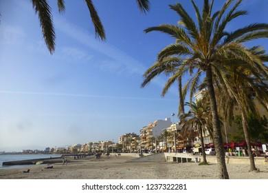 Arenal. Beach in Palma de Mallorca. Baleares, Spain