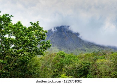 Arenal Volcano among the clouds
