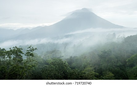 Arenal Volcano in early morning mist - Costa Rica