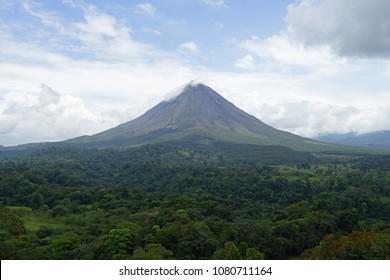 Arenal volcano landscape in Costa Rica