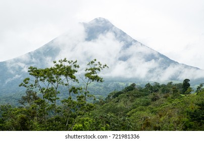 Arenal Volcano with passing clouds - Costa Rica