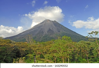 Arenal Volcano Rising up from the Jungle, Costa Rica