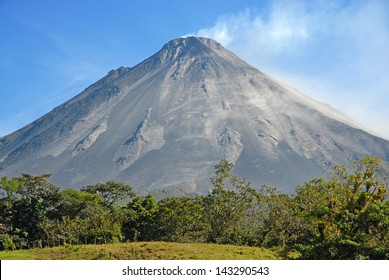Arenal Volcano with Small Eruption