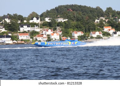 ARENDAL - JUL 16: Boat 3, Victory Team, UAE. Norwegian Grand Prix. July 16, 2011. in Arendal Norway