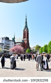 ARENDAL - MAY 17: Norwegian Constitution Day is the National Day of Norway and is an official national holiday observed on May 17 each year. Pictured on May 17, 2018