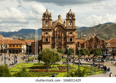 Arequipa, PERU - February 2, 2018  - touristic town and historical center