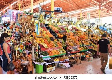 Arequipa Peru - October 4 2016 - San Camilo market