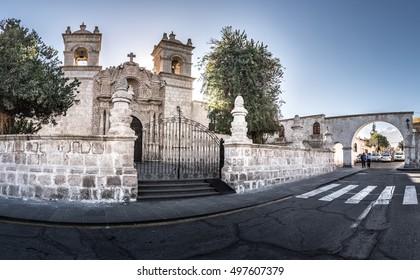 AREQUIPA, PERU:  Panoramic view of Caima church.
