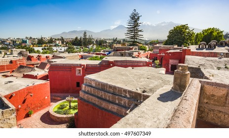 AREQUIPA, PERU:  Street of Santa Catalina.