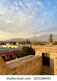 Arequipa skyline, Peru. Captured at the Santa Catalina Monastery (Monasterio de Santa Catalina)