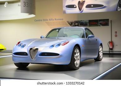 Arese, Italy - 01/03/2019 - Alfa Romeo Nuvola model on display at The Historical Museum Alfa Romeo