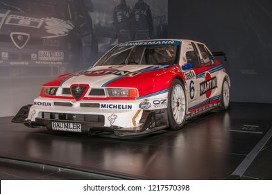 Arese, Italy ,Alfa Romeo Historical Museum (Museo Storico Alfa Romeo) - June 9 2018: Alfa Romeo 155 V6 TI DTM