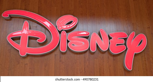 ARESE, ITALY-SEPTEMBER 28, 2016: Disney logo store at the new shopping centre Il Centro, the biggest european mall, in Arese.