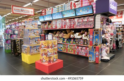 ARESE, ITALY-SEPTEMBER 28, 2016: toy store of the shopping centre Il Centro, the biggest european mall, in Arese Milan.
