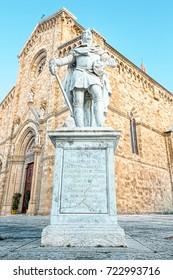 Arezzo Cathedral (Cattedrale di Ss. Donato e Pietro). It's a Roman Catholic cathedral in the city of Arezzo in Tuscany, Italy