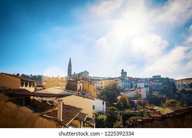 Arezzo City in Tuscany Autumn 2018