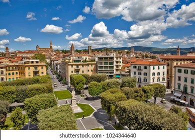 AREZZO, ITALY - MAY 8, 2014: Photo of Panorama of the city. View from above.