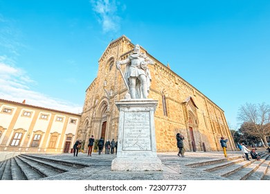Arezzo (Tuscany), Italy Jan 01, 2017: Cathedral of Ss. Donato & Pietro. It's a Roman Catholic cathedral in the city of Arezzo in Tuscany, Italy