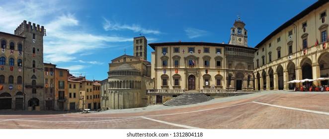 Arezzo, Tuscany, Italy. Piazza Grande.