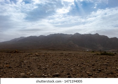Arfoud, Morocco September 2018, Arid View near to Arfoud, the door of the desert