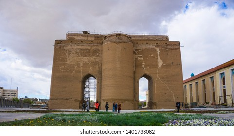 Arg of Tabriz, Tabriz/iran-April 24, 2019: The Arch of Tabriz is remnants of a big unfinished 14th century mausoleum and a 19th century military compound in city center of Tabriz, Iran.