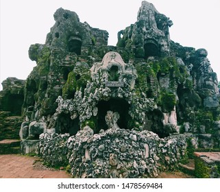 Arga Jumud Cave, one of the caves in Sunyaragi, Cirebon, Indonesia. This cave is unique because it's look like Barongsai.
