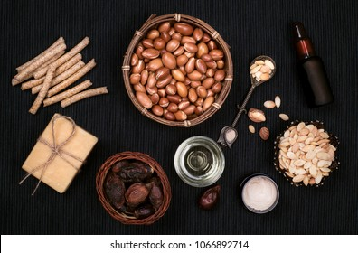 Argan products for beauty treatment