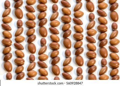 Argan seeds background