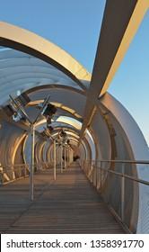 Arganzuela Footbridge in Madrid, Spain