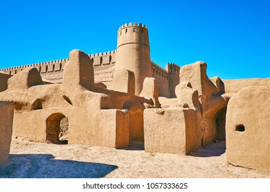 Arg-e Rayen is second largest in world adobe fortress, located in desert of Kerman Province, Iran.