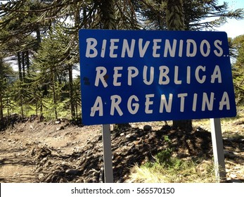 Argentina border crossing in Patagonia