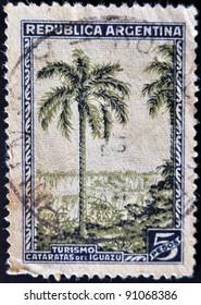 ARGENTINA - CIRCA 1946: A stamp printed in Argentina shows Iguazu Falls, tourism, circa 1946
